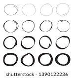 hand drawn marker stains.grunge ... | Shutterstock .eps vector #1390122236