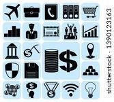 set of 22 business related... | Shutterstock .eps vector #1390123163