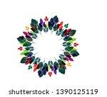 autumn leaves frame   vector  | Shutterstock .eps vector #1390125119