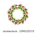 autumn leaves frame   vector    Shutterstock .eps vector #1390125173