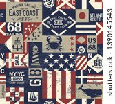 east coast nautical flags and... | Shutterstock .eps vector #1390145543