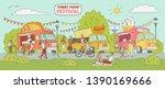 street food festival event  ... | Shutterstock .eps vector #1390169666