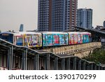 bts mo chit sky train station... | Shutterstock . vector #1390170299