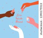 reduce  reuse  recycle. zero... | Shutterstock .eps vector #1390175513