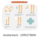 how to handle abrasion poster ... | Shutterstock .eps vector #1390175840