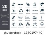 industry 4.0 icons set... | Shutterstock .eps vector #1390197440