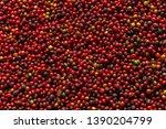 fresh arabica coffee berries .... | Shutterstock . vector #1390204799