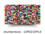 all national flags of the world ... | Shutterstock .eps vector #1390210913