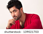 intense portrait of a man with... | Shutterstock . vector #139021703