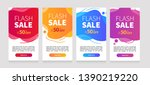 dynamic modern fluid mobile for ... | Shutterstock .eps vector #1390219220