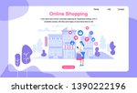 horizontal banner with copy... | Shutterstock .eps vector #1390222196