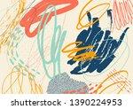 creative drawn doodle art...   Shutterstock .eps vector #1390224953