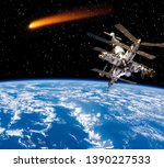 comet is space. the elements of ...   Shutterstock . vector #1390227533