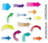 set of arrows with shadows | Shutterstock .eps vector #139023566