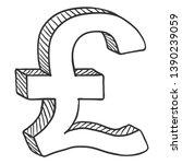 vector sketch currency symbol....   Shutterstock .eps vector #1390239059