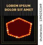 shining retro banner on black... | Shutterstock .eps vector #1390252349