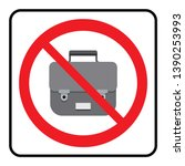 no bags icon.bags not allowed... | Shutterstock .eps vector #1390253993