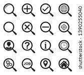 search icons. set 2. black flat ... | Shutterstock .eps vector #1390255040