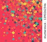 rhombus backdrop minimal... | Shutterstock .eps vector #1390262546