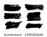 brush strokes. vector... | Shutterstock .eps vector #1390283660