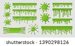 green slime. dirty goo splat ...   Shutterstock .eps vector #1390298126