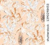 watercolor seamless pattern... | Shutterstock . vector #1390298453