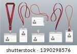 realistic lanyard badge.... | Shutterstock .eps vector #1390298576