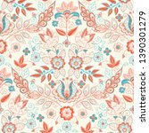 embroidery seamless pattern... | Shutterstock .eps vector #1390301279