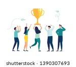 vector illustration. people... | Shutterstock .eps vector #1390307693
