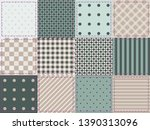 beige and green pattern ... | Shutterstock .eps vector #1390313096
