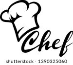 chef black hat decoration for t ... | Shutterstock .eps vector #1390325060
