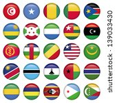africa flags round buttons | Shutterstock .eps vector #139033430