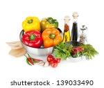 fresh bell peppers  herbs and...   Shutterstock . vector #139033490