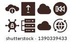 upload icon set. 8 filled... | Shutterstock .eps vector #1390339433
