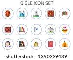 Bible Icon Set. 15 Flat Bible...