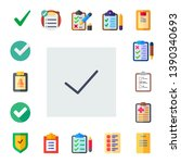 checkbox icon set. 17 flat...
