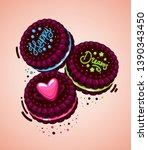 vector brown cookies...   Shutterstock .eps vector #1390343450
