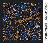 doodle vector background ... | Shutterstock .eps vector #1390347950