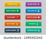 big set of buttons for design.... | Shutterstock .eps vector #1390352243