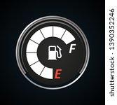 fuel gauge icon. gasoline... | Shutterstock .eps vector #1390352246