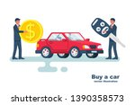 buy a car. template renting a... | Shutterstock .eps vector #1390358573