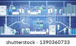 group of professional... | Shutterstock .eps vector #1390360733