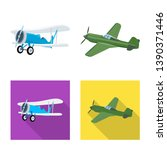 isolated object of plane and... | Shutterstock . vector #1390371446