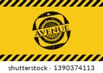 avenue grunge warning sign...   Shutterstock .eps vector #1390374113