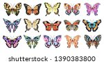 set of bright multicolored... | Shutterstock .eps vector #1390383800