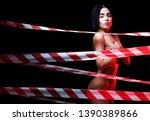 nude women in erotic pose. nude ... | Shutterstock . vector #1390389866