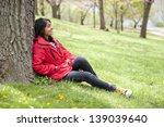 teenage girl in outdoors | Shutterstock . vector #139039640