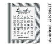 Stock vector laundry room decor laundry care symbols laundry guide printable art 1390408193