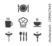 restaurant and cafe icons set...