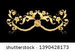 decorative elements in baroque  ... | Shutterstock .eps vector #1390428173